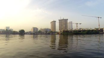 Lagos city from river