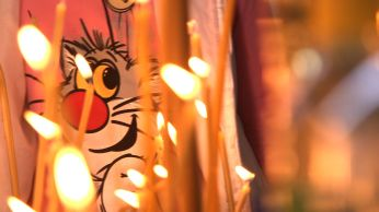 Moscow candles and cartoon