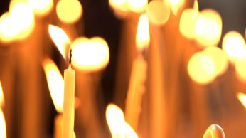 Moscow easter candles